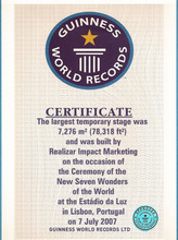 Guinness Book of Records official certificate