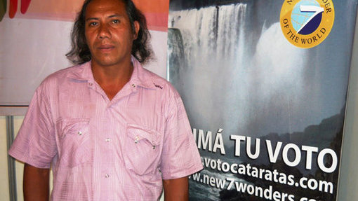 Silvino Moreyra, chief of the Mbororé community.