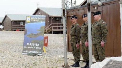 Blessed are the peacemakers. Polish soldiers stationed in Kosovo.
