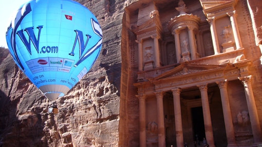 New7Wonders World Tour visit to Petra in January 2007, before it was chosen by more than 100 million votes from around the world as one of the Official New 7 Wonders of the World.