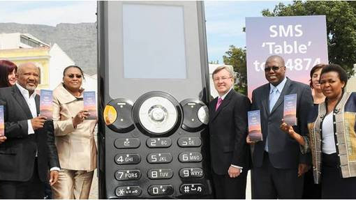 Voting for Table Mountain with the Big Phone
