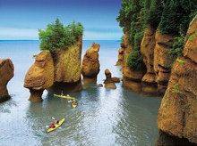The Bay of Fundy's unique mix of water and stone