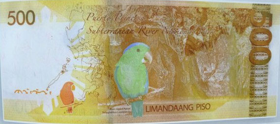 The Central Bank of the Philippines has issued a new 500 Peso banknote featuring the Puerto Princesa Subterranean River.