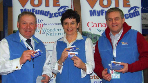 Left to right, Premier Darrell Dexter, Terri McCulloch, Premier David Alward