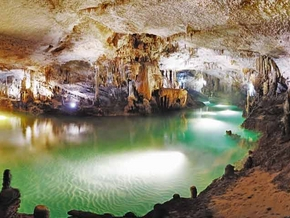 Water, giver of life, reflects the beauty of Jeita Grotto