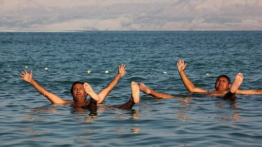 After their spiritual, cultural and historical experiences, the rescued miners took time out to relax at the Dead Sea.
