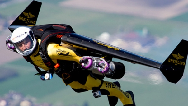 Swiss aviator Yves Rossy is The Jetman