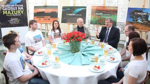 Polish President, Mr. Bronislaw Komorowski, announces his support for the Masurian Lake District.