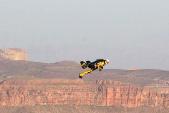 Jetman flies over the Grand Canyon