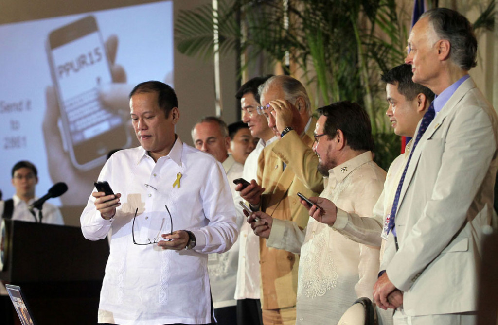 """In the Philippines, we have no less than 80 million cellphone users, sending nearly two billion text messages every day,"" President Aquino said."