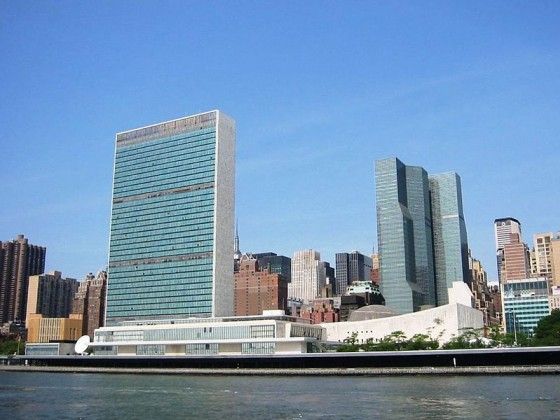 The headquarters of the United Nations is  located in the Turtle Bay neighborhood of Manhattan, on spacious grounds overlooking the East River.