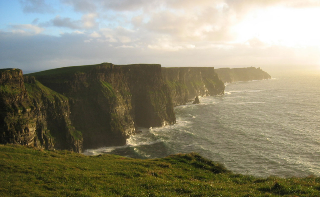 The Cliffs of Moher consist of Namurian shale and sandstone dating back 300 million years.