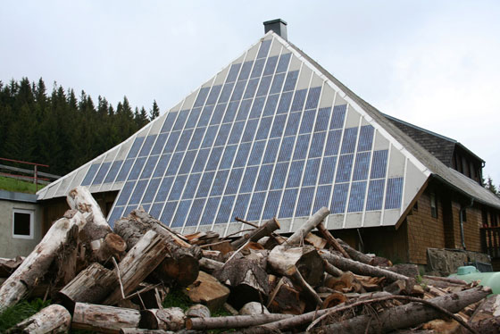 The Rappenecker Hütte is a 350-year-old farm house in southern Germany that generates most of its energy from photovoltaic cells.