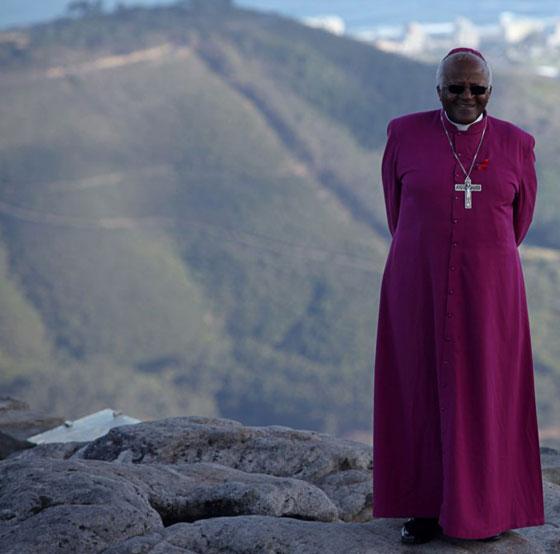 Desmond Tutu on Table Mountain