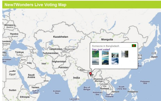 Live Voting Map