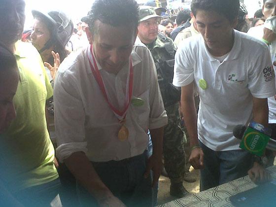President Ollanta Humala of Peru voting for the Amazon