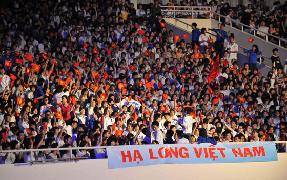 My Dinh National Stadium was filled with enthusiastic fans of Halong Bay