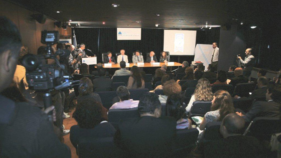 A large cross-section of media, from visual to print to digital, attended the New7Wonders press conference in the Ministry of Tourism offices in Buenos Aires.