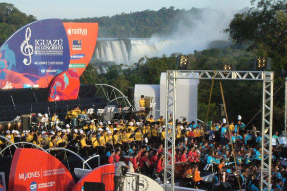 The Official Inauguration of Iguazu Falls as one of the New7Wonders of Nature was marked with musical performances in one of the world's  most spectacular natural settings.