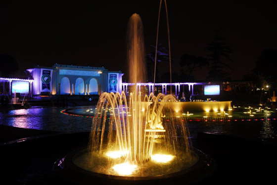 With its emphasis on water and light, the venue for the ceremony in Lima was perfect for an event that paid homage to one of the world's great sources of water and life.