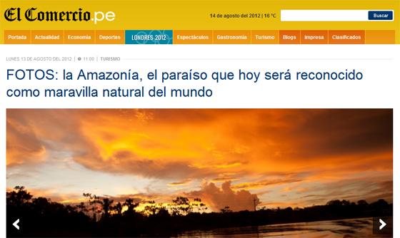 FOTOS: la Amazonía, el paraíso que hoy será reconocido como maravilla natural del mundo