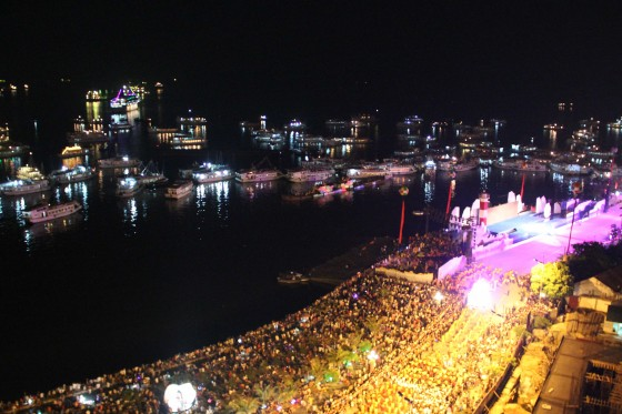 Against the backdrop of Halong Bay, the stage was set for a night of drama, music, colour, fireworks and fun.