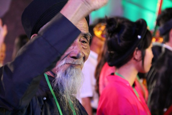 The ethnic groups that make up Vietnam's Quang Ninh province, including the Kinh, Dao, Tay, San Diu and San Chi peoples, took part in the Halong Bay New7Wonders of Nature celebrations.