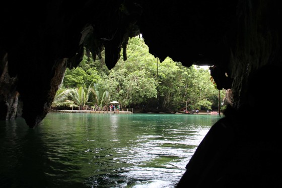 Light at the end of the tunnel signals that Puerto Princesa Underground River (PPUR) is entering the sea in the form of a lagoon surrounded by ancient trees.