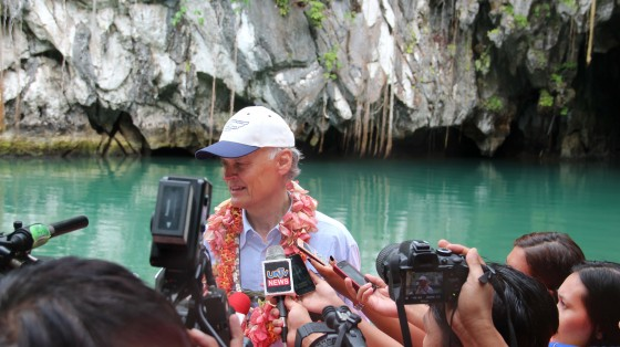 """""""From the inception of New7Wonders, my goal was to bring inspiration and create motivation and participation on themes that everyone on our planet can understand, themes that have real and lasting value,"""" Bernard Weber tells the press in Palawan."""