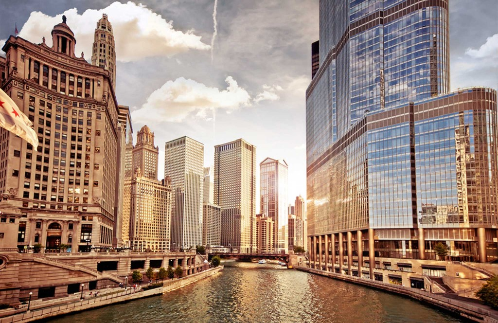 On the list, Chicago. Home to one of the finest downtown ensembles of modern architecture in the world.