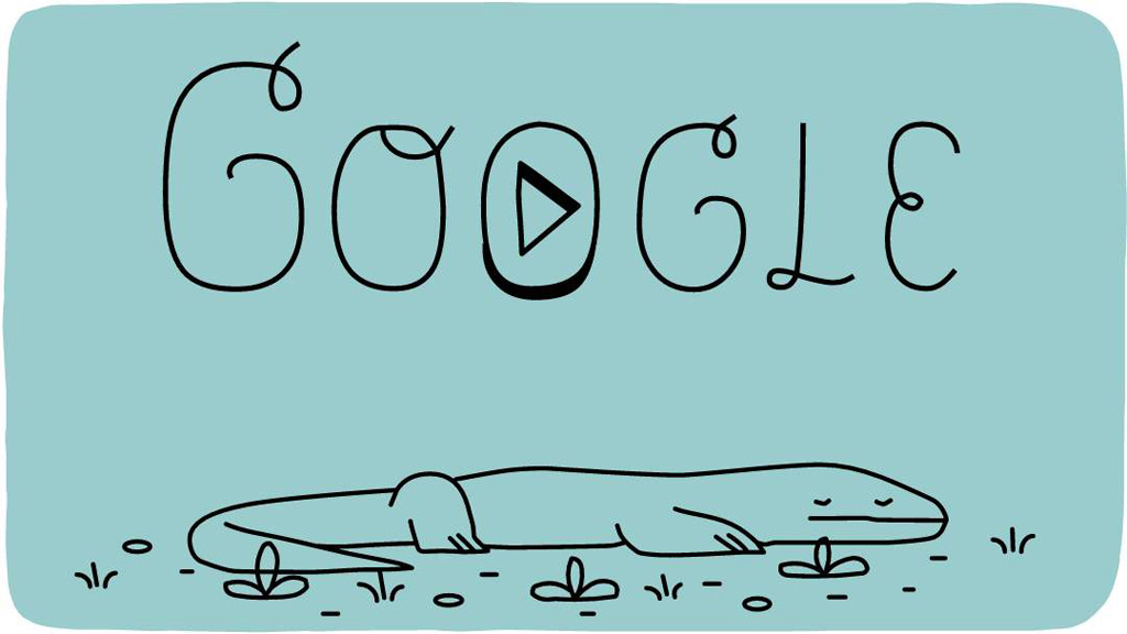 Today's Google doodle celebrates the 37th Anniversary of Komodo National Park, one of the New7Wonders of Nature.